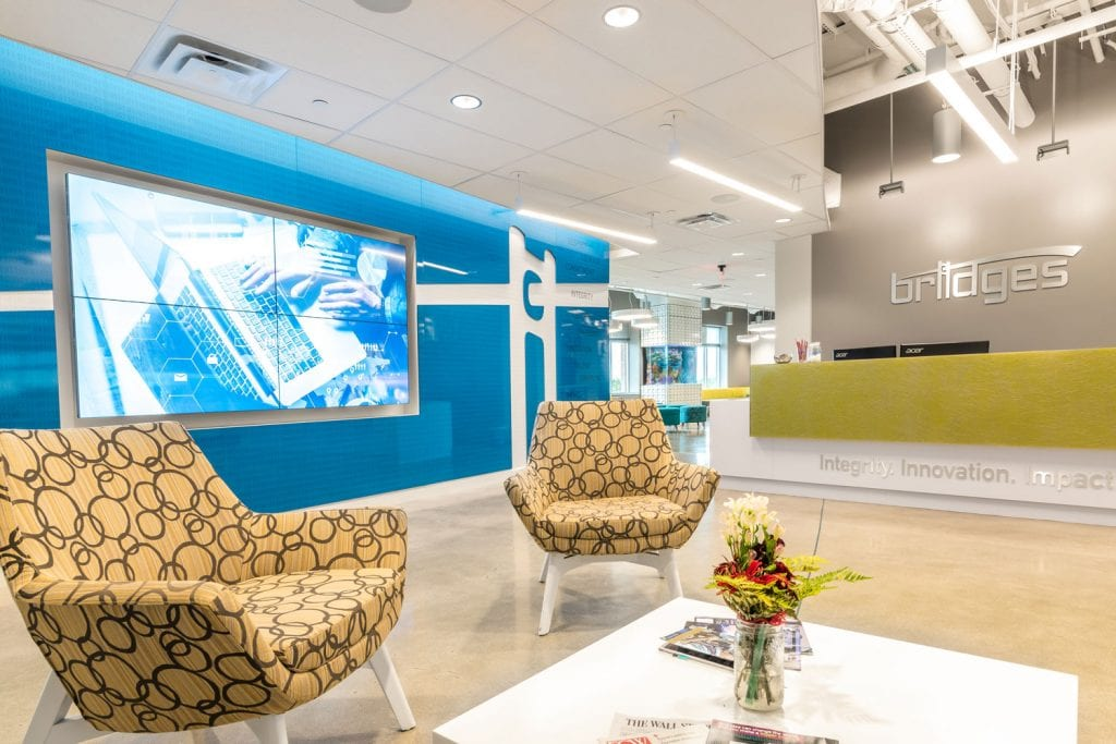 Bridges Consulting Inc. Case Study Video Wall