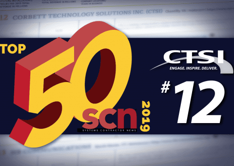 CTSI #12 on SCN Top 50 Systems Integrators of 2019