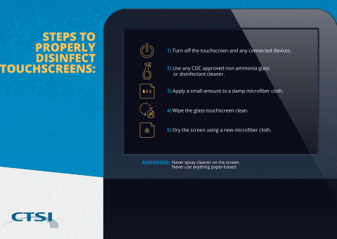 Steps to Properly Disinfect Touchscreens
